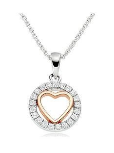 beaverbrooks-silver-and-rose-gold-plated-cubic-zirconia-heart-pendant