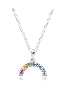 beaverbrooks-silver-cubic-zirconia-multicoloured-rainbow-pendant