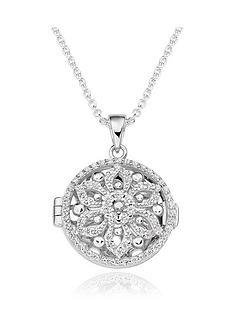 beaverbrooks-silver-cubic-zirconia-flower-locket-pendant