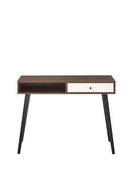 monty-1-drawernbspdesk-walnutwhite