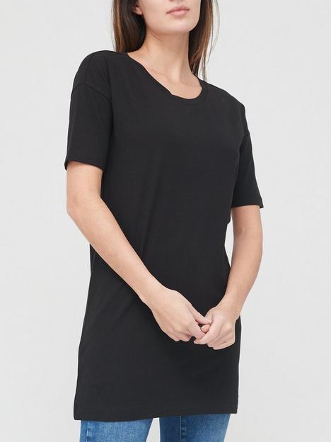 v-by-very-valuenbspshortnbspsleeve-tunic-black