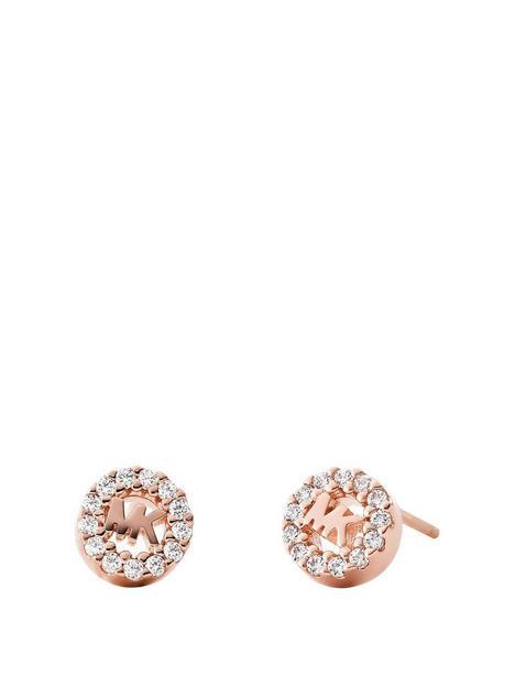 michael-kors-mk-stud-rose-tone-stainless-steel-earrings