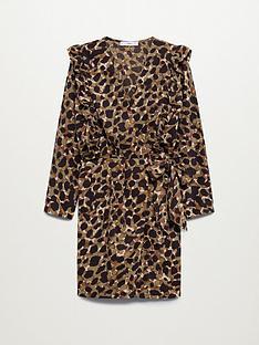 mango-rufflenbspwrap-dress-leopard-print
