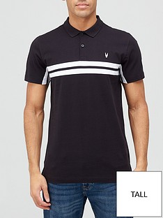 very-man-tall-chest-stripe-polo-shirt-nbspblack