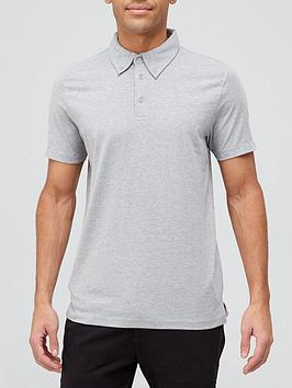 Very Man Comfort Stretch Jersey Polo - Grey Marl, Grey, Size M, Men