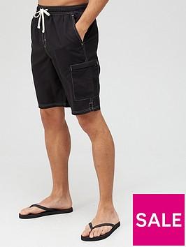 very-man-tall-contrast-stitch-longer-swim-shorts-black