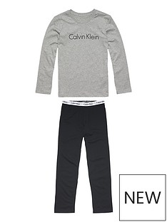 calvin-klein-boys-long-sleeve-pyjama-set-greyblack