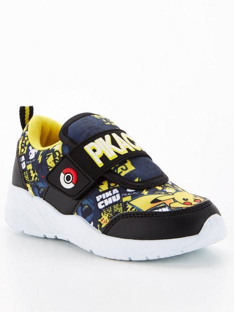 pokemon-boys-pokemon-pikachu-velcro-trainers-blackyellow