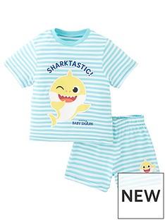 baby-shark-kids-unisex-baby-shark-sharktastic-stripe-shorty-pjs