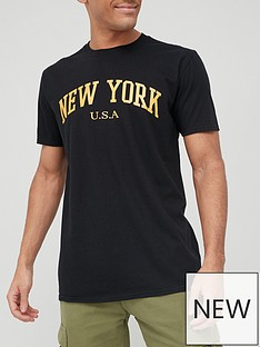 very-man-new-york-printed-t-shirt-black