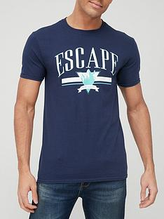 very-man-escape-printed-t-shirt-teal