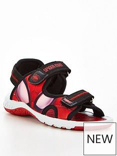 spiderman-boys-spiderman-sandals-blackred