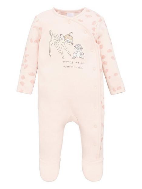 bambi-baby-girlnbspsleepsuit-pink
