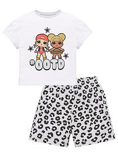 lol-surprise-girls-ootd-shorty-pjs-white