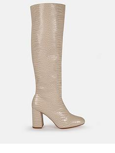 missguided-missguided-tubular-block-heel-knee-high-boots-cream