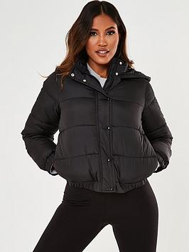 Missguided Missguided Hooded Jacket - Black