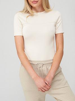 Missguided Missguided Clean Seam Front Bodysuit - Cream