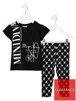 river-island-mini-mini-girls-printed-legging-and-t-shirt-set--nbspblack
