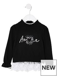 river-island-mini-girls-amore-lace-hem-knitted-jumper--nbspblack