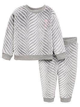river-island-mini-clipped-fur-zip-sweat-amp-jogger-grey