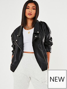 missguided-missguided-oversized-buckle-detail-biker-jacket-black