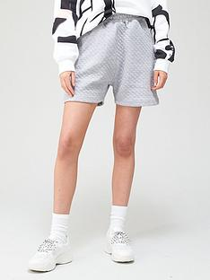 missguided-missguided-quilted-shorts-grey