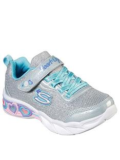 skechers-girls-sweethearts-lights-shimmer-spell-strap-trainer-silver