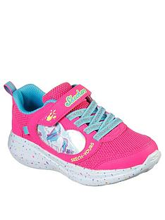 skechers-girls-go-run-fast-miss-crafty-strap-trainer-pink