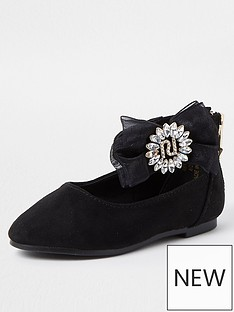 river-island-mini-girls-organza-diamante-ballerina-shoes--nbspblack