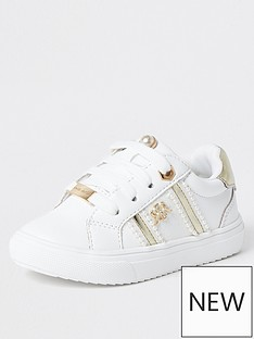 river-island-mini-mini-girls-pearl-trim-trainers-white