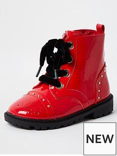 river-island-mini-mini-girls-patent-chunky-boot--nbspred
