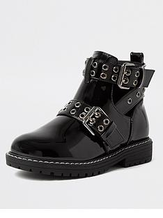 river-island-girls-cut-out-patent-boot--nbspblack