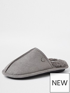 river-island-boys-monogram-mule-slippers-grey