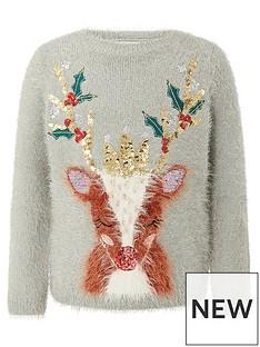 monsoon-girls-christmas-reindeer-knitted-jumper-grey