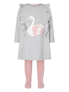monsoon-baby-girls-swan-sweat-dress-amp-tight-grey