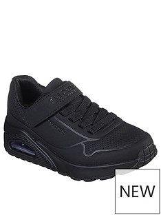 skechers-childrensnbspuno-strap-trainer-black
