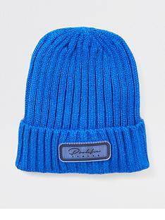 river-island-mini-mini-boys-prolific-knitted-beanie-hat--nbspblue