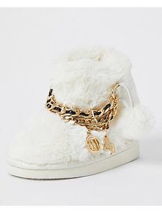river-island-mini-girls-unicorn-chain-bootie-slippers-creamnbsp