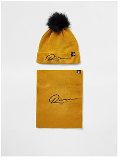 river-island-boys-knitted-hat-and-snood-set-yellow