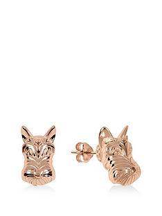 radley-rose-gold-tone-dog-stud-ladies-earrings