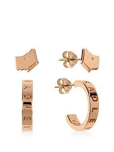 radley-gold-plated-sterling-silver-dog-and-hoop-ladies-earring-set