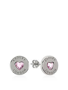 radley-radley-sterling-silver-pink-crystal-heart-stud-ladies-earrings