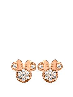 disney-disney-minnie-mouse-rose-gold-plated-sterling-silver-crystal-stud-earrings