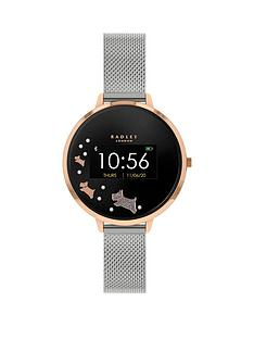 radley-radley-series-3-mini-display-black-and-rose-gold-dog-dial-stainless-steel-mesh-strap-ladies-smart-watch