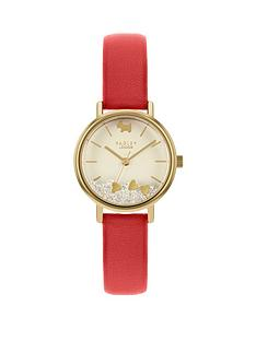 radley-radley-hello-love-champagne-and-gold-detail-floating-crystal-dial-red-leather-strap-ladies-watch