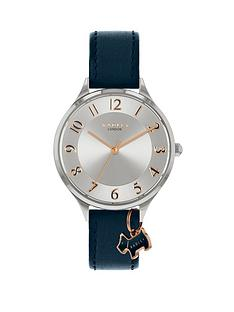 radley-radley-saxon-road-silver-sunray-and-rose-gold-detail-dog-charm-dial-navy-leather-strap-ladies-watch