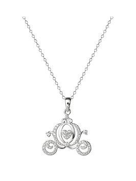 disney-princess-cinderella-sterling-silver-crystal-carriage-pendant-necklace