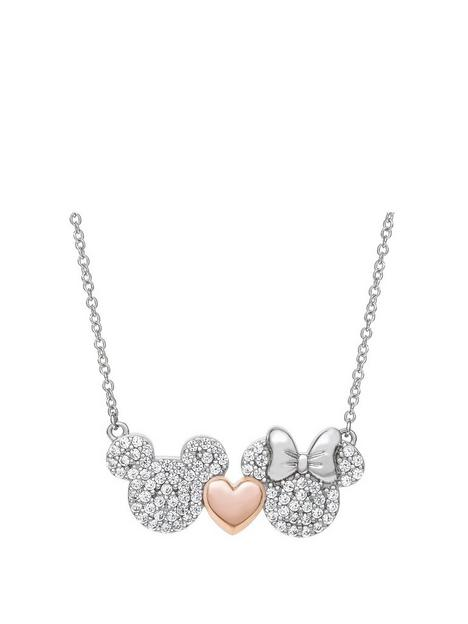 disney-mickey-loves-minnie-sterling-silver-crystal-and-rose-gold-plated-heart-pendant-necklace
