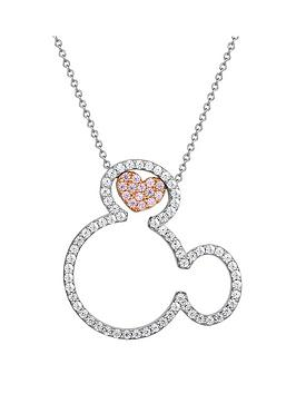 disney-mickey-mouse-sterling-silver-open-crystal-and-rose-gold-crystal-heart-pendant-necklace
