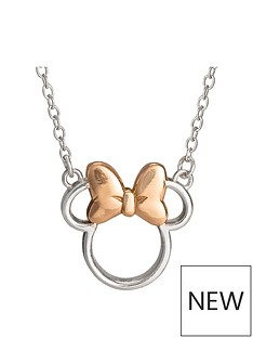 disney-disney-minnie-mouse-sterling-silver-and-rose-gold-bow-necklace